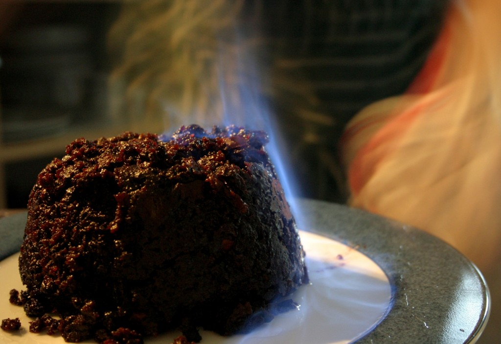 Christmas-pudding-flames