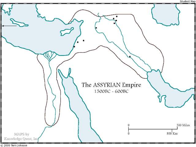 Assyrian Empire unlabeled map
