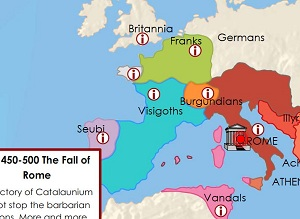 TimeMap Fall of Roman Empire