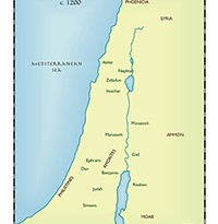 Ancient world map center page 3 the twelve tribes of israel gumiabroncs Choice Image